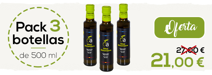 oferta aceite arbequina 3 botellas