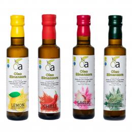 Mix de aceites aromatizados con Aromas naturales.