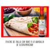 Fajitas de pollo mejicanas con condimento de aceite de oliva virgen extra con chilli picante guindilla